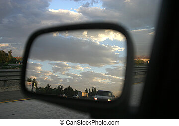 View of the Rearview - Driver-side perspective of the...