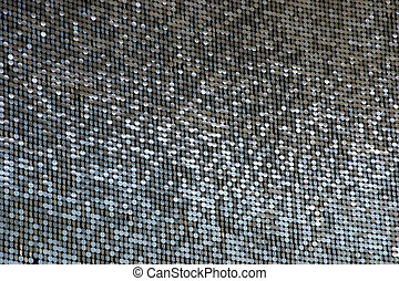 Shiny Circles - Lots of shimmering circles hanging on a...