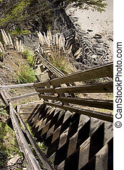 Treacherous Stairway - A very steep stairway leading to the...