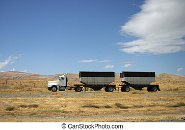 Truck Transport - A tractor-trailer hauls some stuff down...