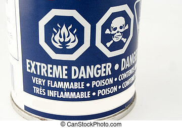 danger symbols - caution symbols on a can