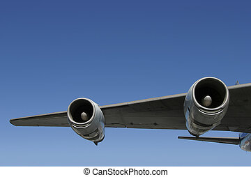 Winging It - A section of a jumbo jet wing.