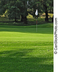 Golf field - Belgrade\\\'s golf course. Hole no.8.