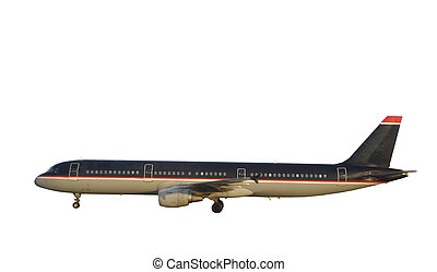 Passenger Airplane - Modern Jet. Isolated, Clipping Path...