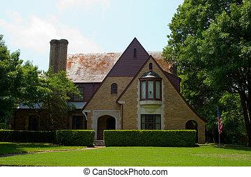 Tudor Style House - Tudor Style brick house with...