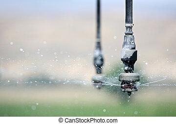 fim, irrigação, cima