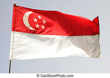 Singapore flag - The national flag of Singapore