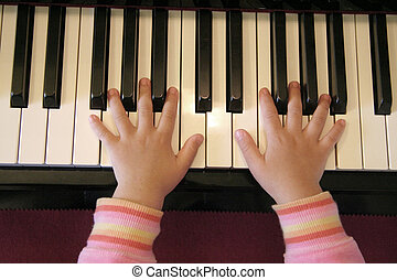 hand and piano