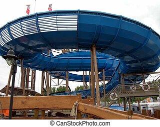 Water slide - It`s a water slide by a festival in bavarian