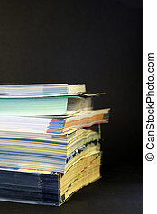 stack of catalogues 02 - colorful stack of mail order...