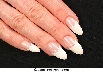 fingernails - Manicured hands