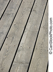 Wood Deck - Grey wood deck.