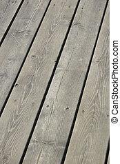 Wood Deck - Grey wood deck.