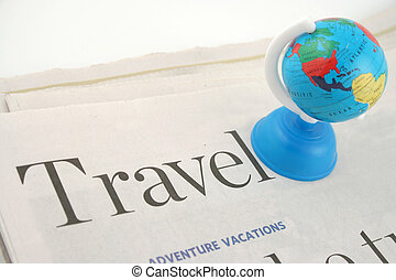 travel news - travel section of newspaper and globe