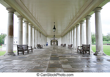Colonade, greenwich - Colonade, Queen\\\'s house, Greenwich