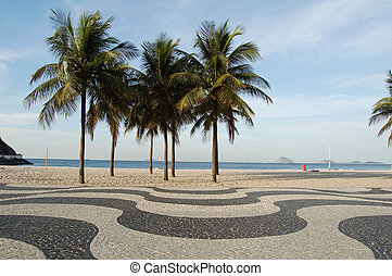 Copacabana sidewalk - in front of the beach