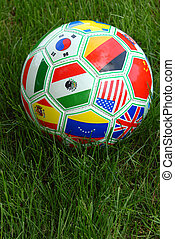 World Cup Soccer Ball With National Flags