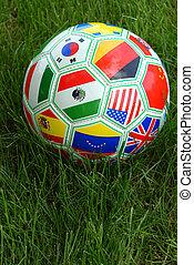 Welt, fussball, Kugel, Becher