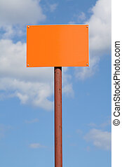 empty sign post against the sky 2