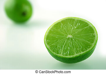 Lime Near and Far - Cut Lime with shallow depth of field