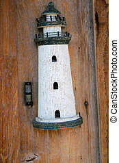 light house on wood