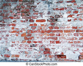 Old grungy brick wall - Photo of old red grungy brick wall....