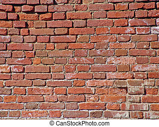 Old Dirty Crushed Bricks - Photo of the old red brick wall