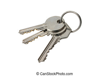 keys - 3 keys on white back-ground