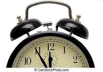 five to twelve - alarm-clock set five to twelve