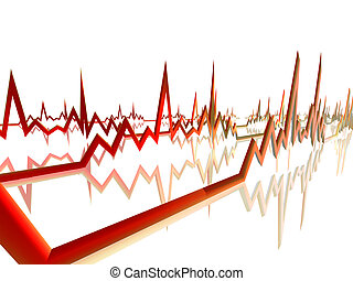 EKG Line 4 - 3D Illustration