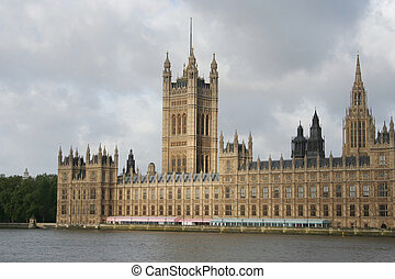 palace of Westminster, London - victoria tower, palace of...