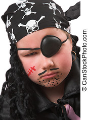 Halloween pirate - Ten year old girl as a pirate for...