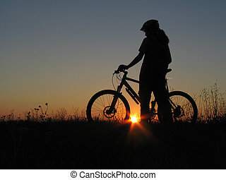 cycling - mountain biker girl