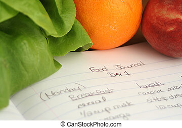 food journal - diary of food eaten throughout the day when...