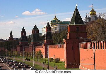 Towers of the Kremlin, Moscow, Russia
