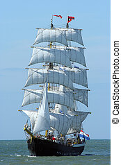 sailboat - A Dutch sailboat at sea