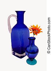 azul, garrafa