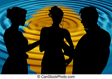 Formal Group Over Abstract Sunset - Formal group of three...