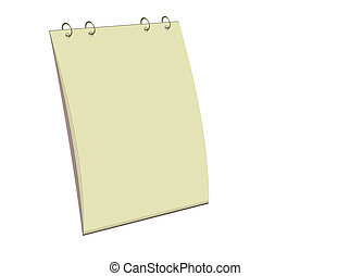 Blank notes block - Blank yellow notepad for easy use
