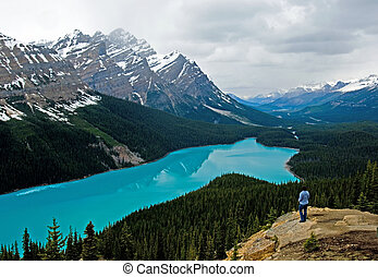 Peyto lake at spring - Banff National park, Canada