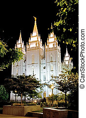 Mormon Temple - Temple square in Salt Lake City, Utah, USA