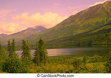 Alaskan Sunrise - Sunrise over remote Alaskan lake