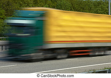 Speed - lorry going fast