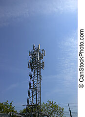 Phone mast - Phone mask on blue sky