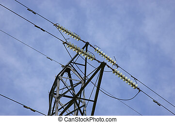 High Voltage - Electrical pylone. /Power line