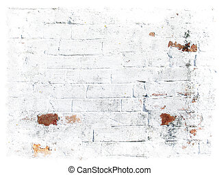 White grungy bricks background - Photo of the part of old...