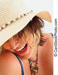 happy springtime - Summery woman