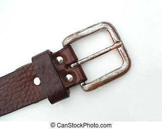 Belt detail on white background
