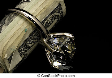 Diamond Ring - Diamond RIng and Money