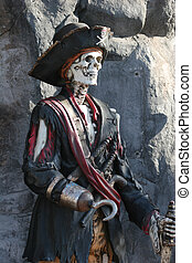 pirata, esqueleto